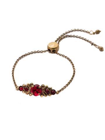 Rosina Slider Bracelet in Antique Gold-tone Go Garnet
