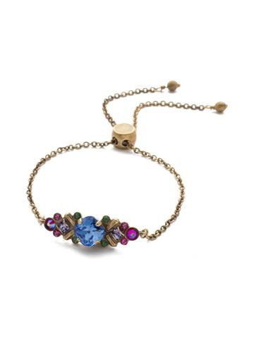 Rosina Slider Bracelet in Antique Gold-tone Game of Jewel Tones