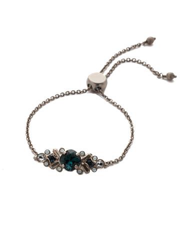 Rosina Slider Bracelet in Antique Silver-tone Glory Blue