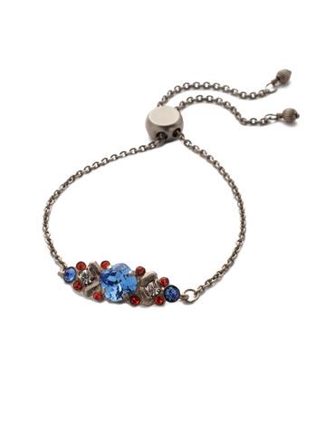 Rosina Slider Bracelet in Antique Silver-tone Orange Crush