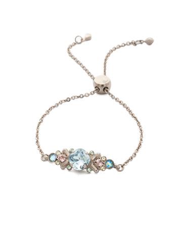 Rosina Slider Bracelet in Antique Silver-tone Pastel Prep
