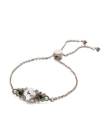 Rosina Slider Bracelet in Antique Silver-tone Snowy Moss