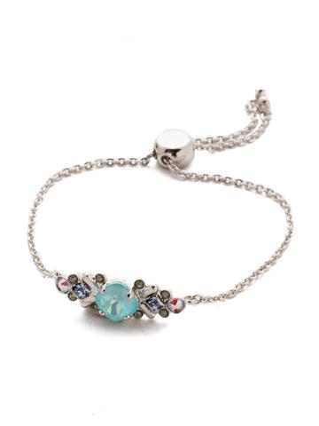Rosina Slider Bracelet in Rhodium Seersucker