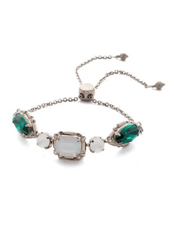 Tosca Slider Bracelet in Antique Silver-tone Snowy Moss