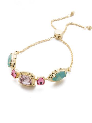 Tosca Slider Bracelet in Bright Gold-tone Candy Pop