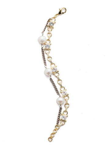 Isla Classic Bracelet in Mixed Metal Modern Pearl