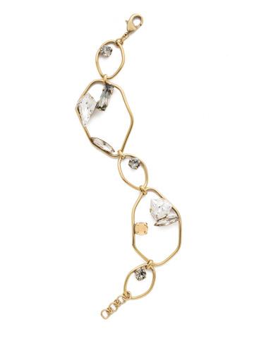Anastasia Link Bracelet in Antique Gold-tone Crystal