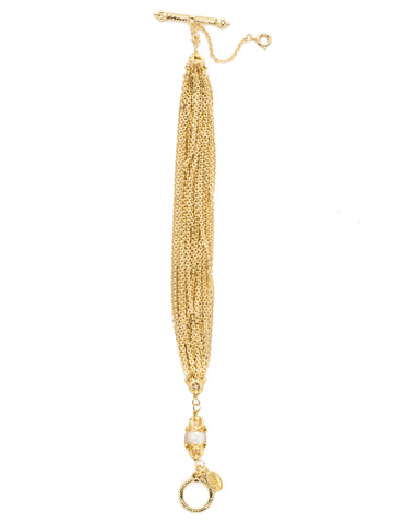 Concetta Classic Bracelet in Bright Gold-tone Polished Pearl