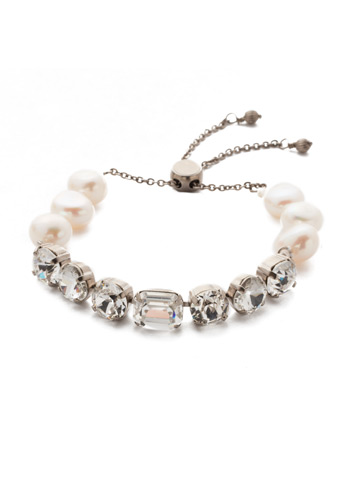 Cadenza Bracelet in Antique Silver-tone Crystal