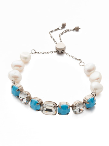 Cadenza Bracelet in Antique Silver-tone Polished Pearl