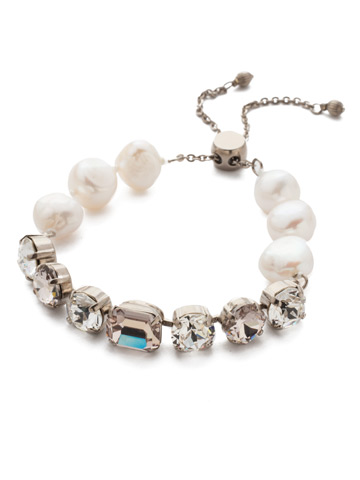 Cadenza Bracelet in Antique Silver-tone Soft Petal