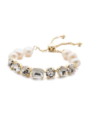 Cadenza Bracelet in Bright Gold-tone Crystal