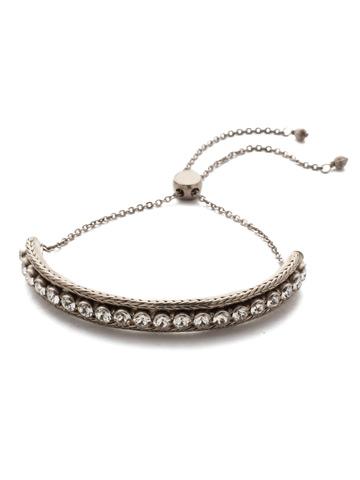 Madalene Slider Bracelet in Antique Silver-tone Polished Pearl