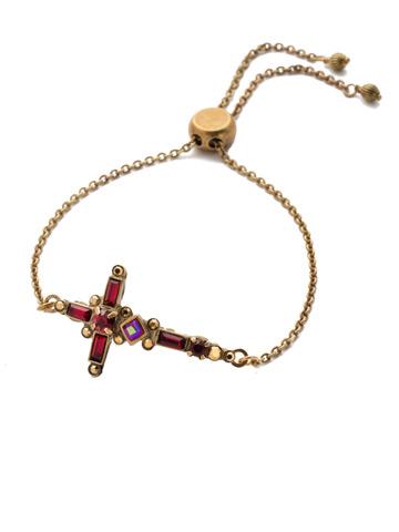 Venezia Slider Bracelet in Antique Gold-tone Go Garnet