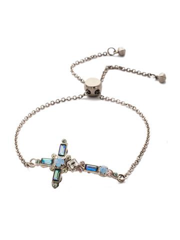 Venezia Slider Bracelet in Antique Silver-tone Pastel Prep