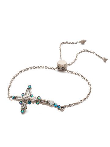 Venezia Slider Bracelet in Antique Silver-tone Snowy Moss