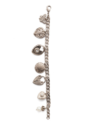 Rachelle Bracelet in Antique Silver-tone Polished Pearl