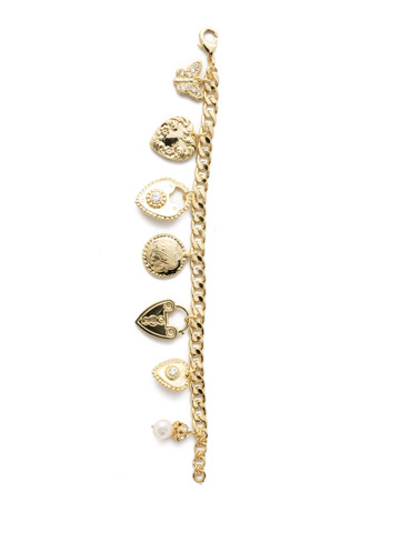 Rachelle Bracelet in Bright Gold-tone Polished Pearl