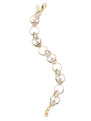 Aurora Classic Bracelet in Bright Gold-tone Silky Clouds
