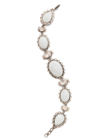 Maria Statement Bracelet in Antique Silver-tone Silky Clouds