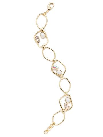 Presley Link Bracelet in Bright Gold-tone Silky Clouds