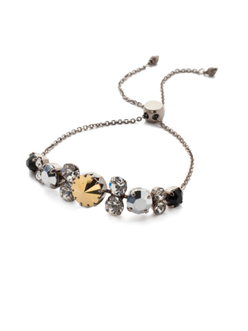 Arabella Slider Bracelet in Antique Silver-tone Heavy Metal