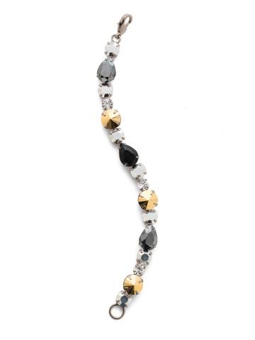 Harper Classic Line Bracelet in Antique Silver-tone Heavy Metal