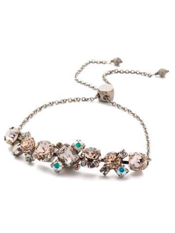 Brielle Slider Bracelet in Antique Silver-tone Silky Clouds