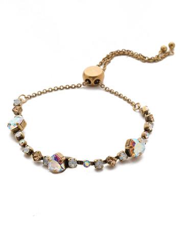 Sedge Slider Bracelet in Antique Gold-tone Rocky Beach
