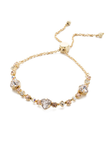 Sedge Slider Bracelet in Bright Gold-tone Silky Clouds