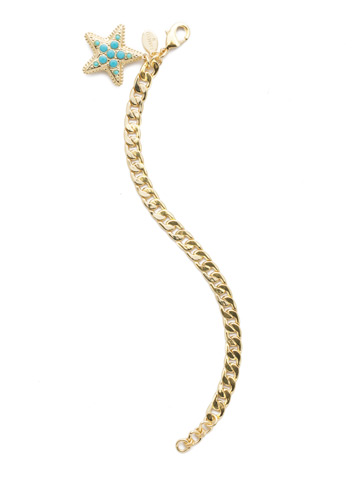 Astaria Link Bracelet in Bright Gold-tone Candy Pop