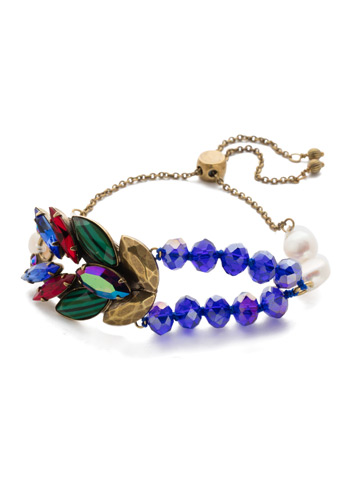 Viserion Slider Bracelet in Antique Gold-tone Game of Jewel Tones