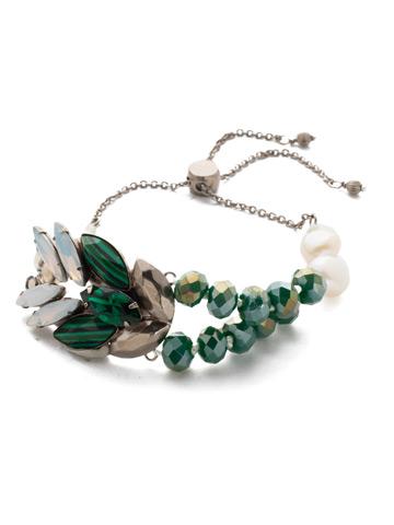 Viserion Slider Bracelet in Antique Silver-tone Snowy Moss