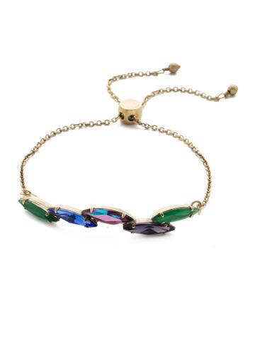 Daenery's Slider Bracelet in Antique Gold-tone Game of Jewel Tones