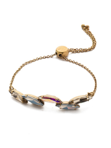 Daenery's Slider Bracelet in Antique Gold-tone Rocky Beach