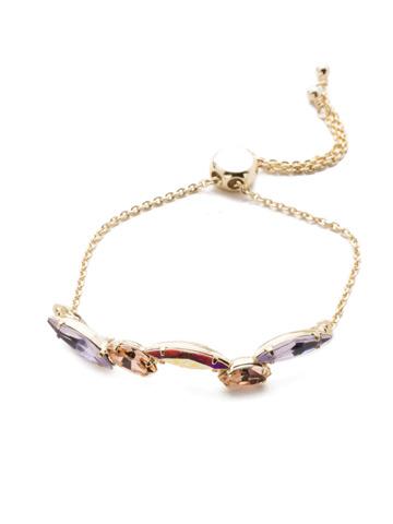 Daenery's Slider Bracelet in Bright Gold-tone Island Sun