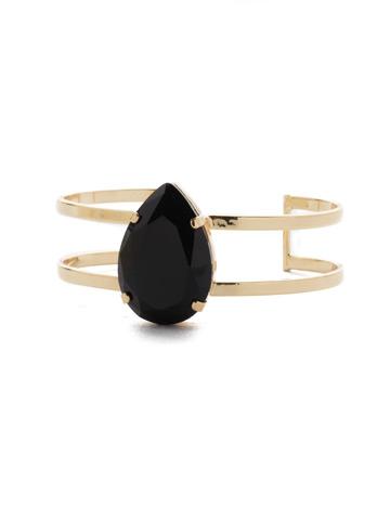 Ellaria Cuff Bracelet in Bright Gold-tone Jet