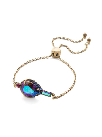 Lysa Slider Bracelet in Antique Gold-tone Game of Jewel Tones