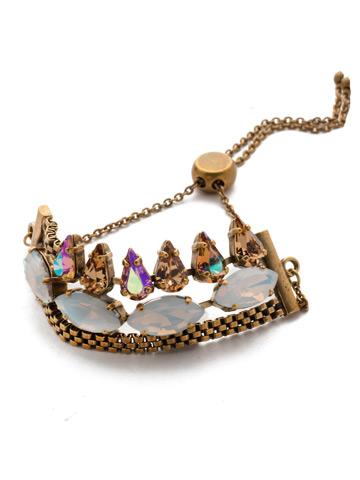 Arya Slider Bracelet in Antique Gold-tone Rocky Beach