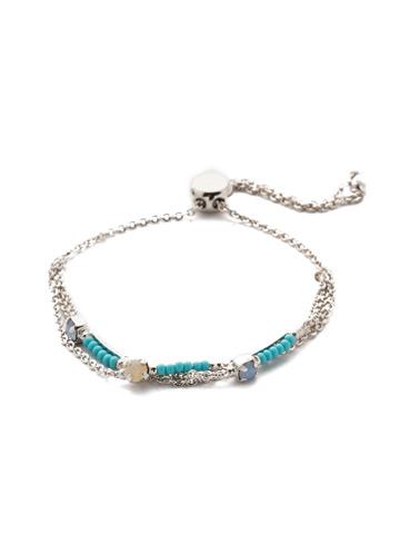 Kai Slider Bracelet in Rhodium Tahitian Treat