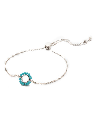 Azul Slider Bracelet in Rhodium Tahitian Treat