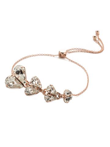 Valentina Slider Bracelet in Rose Gold-tone Crystal
