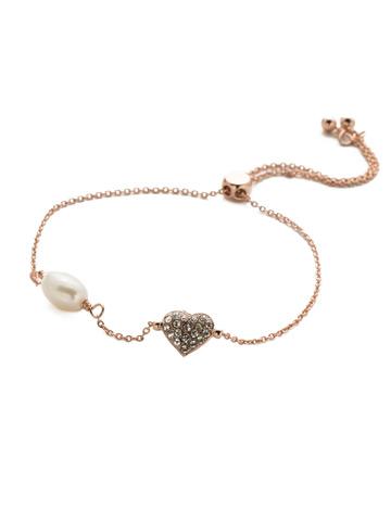 Pippa Slider Bracelet in Rose Gold-tone Crystal