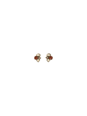 Small Cluster Earring in Antique Gold-tone Andalusia
