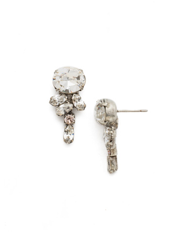 Dragonfly Post Earring in Antique Silver-tone Snow Bunny