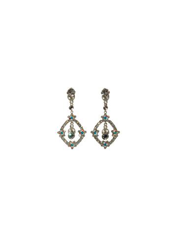 Sorrelli Earrings in Antique Silver-tone White Bridal