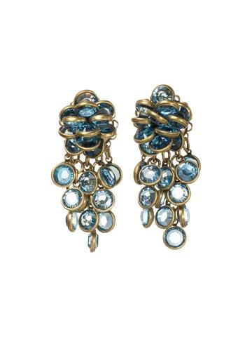 Sorrelli Earrings in Antique Gold-tone Aqua Bubbles