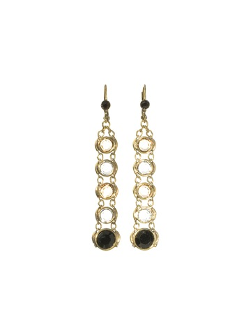 Simple Channel Drop Earring in Antique Gold-tone Evening Moon