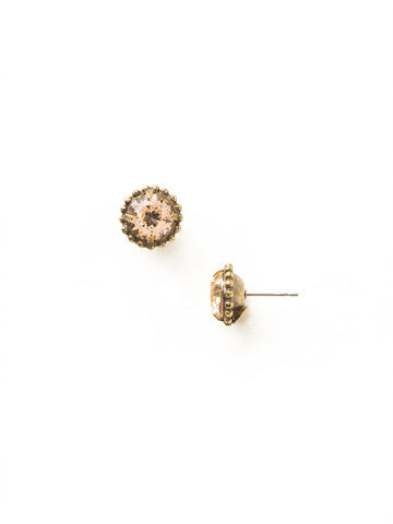 Simplicity Stud Earring in Antique Gold-tone Light Peach