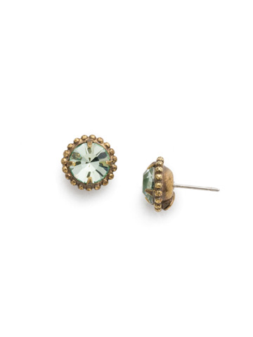 Simplicity Stud Earring in Antique Gold-tone Mint